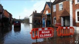 Flooding in Worcestershire in 2007
