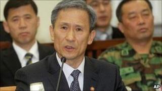 South Korean Defence Minister Kim Kwan-jin