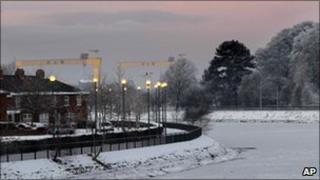 River Lagan in Belfast on Christmas Eve, 2010