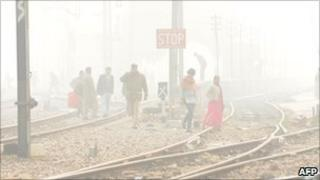 Fog in Delhi on 26 Dec 2010