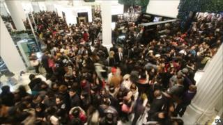 Shoppers in Selfridges