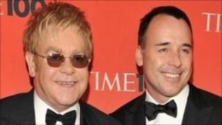 Sir Elton John and David Furnish. Photo: May 2010