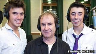 Ben Hazelby, Jamie Hazelby and Chris De Burgh