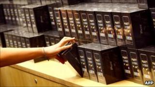 Apple iPhones on sale, AFP/Getty