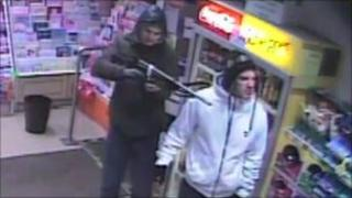 Robbers at Efford Road Post Office