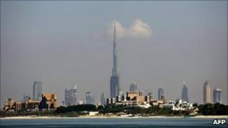 The city skyline of Dubai