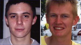 William Paton (l) and William Sheppard who were killed when their car veered off the A34 Handforth Bypass on Boxing Day