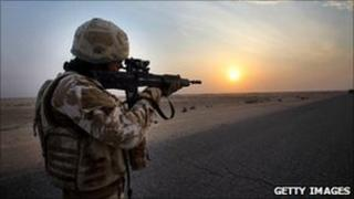 British soldier, Basra, Iraq (file pic)