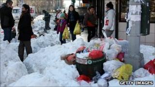 Messy New York street