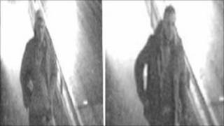 CCTV images of the two men
