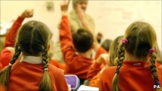 children in classroom