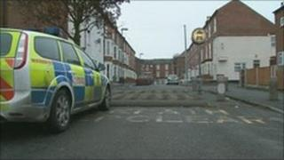 Police cordon on Alfreton Road