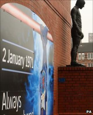 memorial at Ibrox stadium