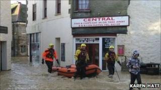 November flooding in Mevagissey