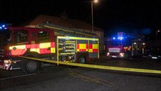 Crews at the scene of the Coatbridge fire
