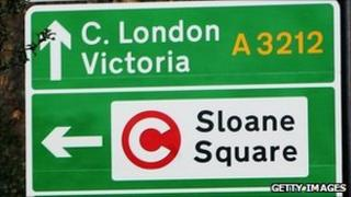 A sign at the entrance to the congestion charge zone