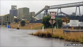 Coal refinery near Muswellbrook in the Hunter Valley in Australia