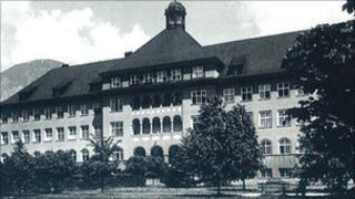 Hall Hospital before World War II (image from hospital website)