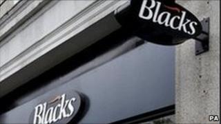 Blacks shop sign