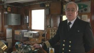 SS Shieldhall captain Peter Roberts