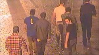 CCTV photograph of men in Wind Street