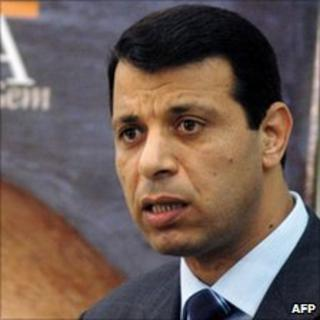 Mohammed Dahlan in Gaza City (2005)