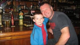Philip Ashton with his son Thomas