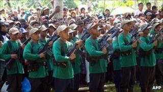Communists gather 26 Dec 2010, in Mindanao, the Philippines