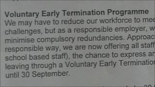 Redundancy scheme announcement