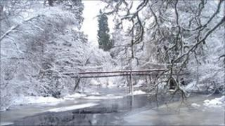 Alness River in Ross-shire, photographed by Mike Haughey at the end of last month