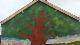 New mural on the Woodstock Road in east Belfast