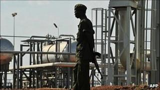 Oil facility in Southern Sudan (file image)