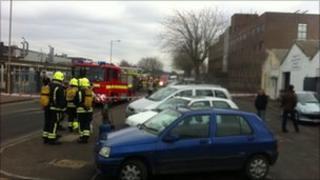 Scrapstore fire Swindon