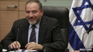 Avigdor Lieberman at the Knesset, 27 December
