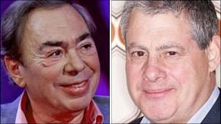 Andrew Lloyd Webber and Sir Cameron Mackintosh