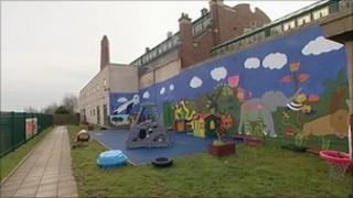 The rear of the Little Stars Nursery in Nechells