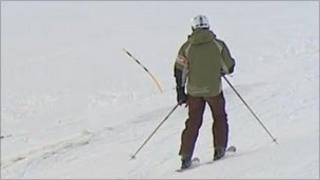 A skier