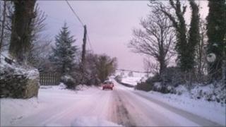 Heavy snow caused treacherous conditions across NI in December