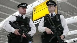 Armed police at Heathrow