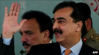 Prime Minister Yousuf Raza Gilani in Karachi on 7 January 2011