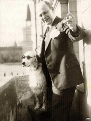 Tor Borg with dog Jackie (undated imageI