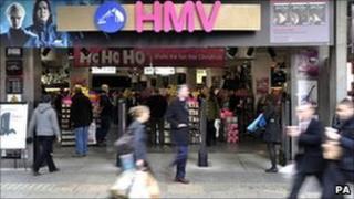 HMV store (file pic: 2009)