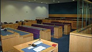 Interior Laganside courtroom