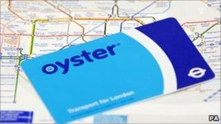 Oyster card and Tube map