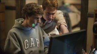 Jessie Eisenberg as Mark Zuckerberg in The Social Network