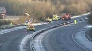 The M3 following one of the accidents