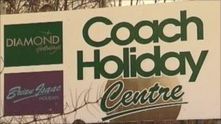 Diamond Coach Holidays sign