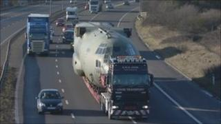 The first Hercules on the motorway last Sunday