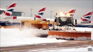 Snow at Heathrow Airport