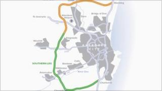 Aberdeen bypass map